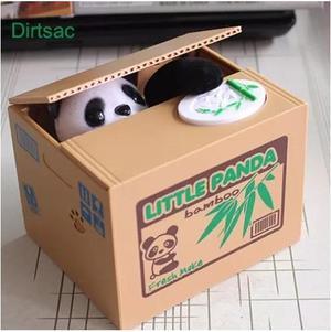 Alcancia D Osito Panda Y Gatito Roba Monedas Caja Ahorrador