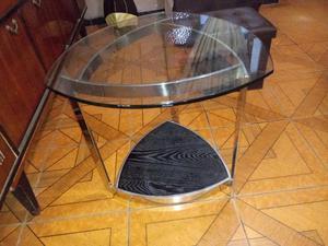Vendo Mesas Esquineras de Acero Y Vidrio