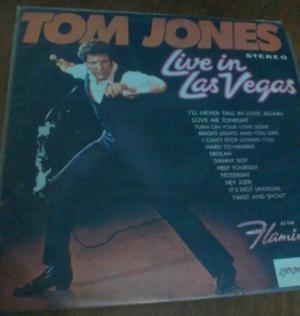 TOM JONES LIVE IN LAS VEGAS LP DISCO VINILO