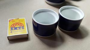 Antiguas Tazas de Porcelana con Publicidad Lufthansa Made In