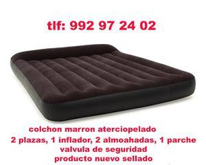 Colchónes Inflable 2 plazas con inflador, 2 almohadas,