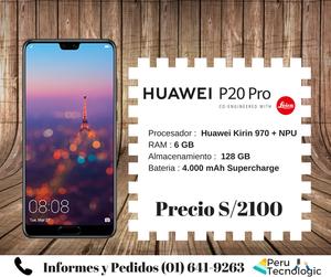 Huawei P20 PRO NUEVO TIENDA FISICA