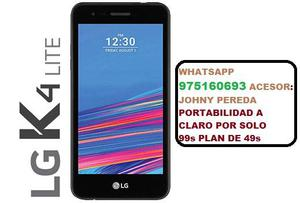 LG K4 LITE POR SOLO 99s PLAN DE 49s PORTATE CON ESTA PROMO