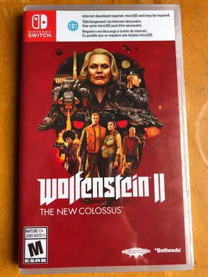Wolfenstein 2 Nuevo Sellado Juego de Nintendo Switch