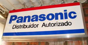 Letrero Luminoso De Colección Panasonic De Aluminio