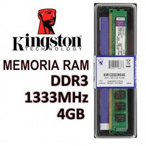 Memoria Ram 4GB DDR3 Bus  mhz