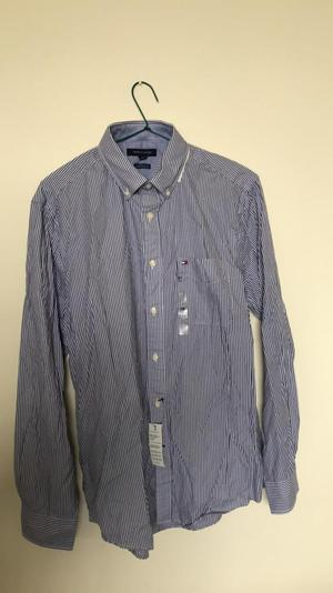 Camisa Tommy Hilfiger azul Classic Fit M