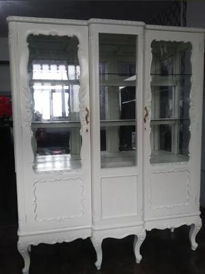antiq Antigua vitrina madera cedro luis xv