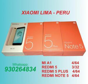 Productos Xiaomi redmi 5,redmi 5 plus, xiaomi Mi A1, redmi