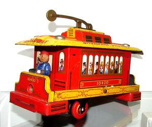 Tranvia De Lata Modern Toys Hecho En Japon 50´s Adorno
