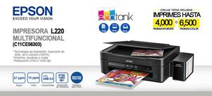 Impresora Multifuncional Epson EcoTank L220 Sistema Continuo