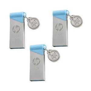 MEMORIA HP USB V215B 16GB SILVER/BLUE PN HPFD215B16
