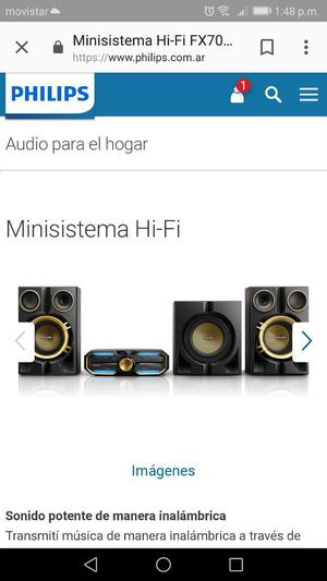 Vendo O Cambio Equipo de Sonido Philips