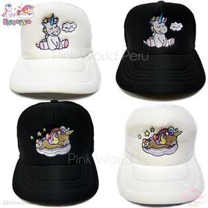 Gorras De Malla Unicornio Bordado