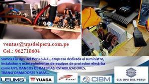 SERVICIO DE MANTENIMIENTO Y REPARACIÓN DE UPS, BANCO DE