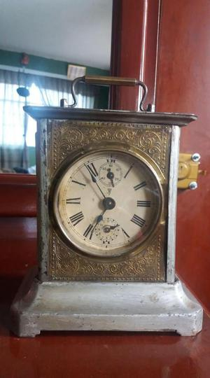 Antiguo Reloj Carruaje Alemán Operativo