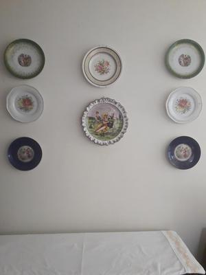 platos decorativos de porcelana de Bavaria.