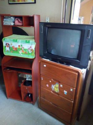 Mueble para sala, Escritorio para pc, mueble con cajones, Tv