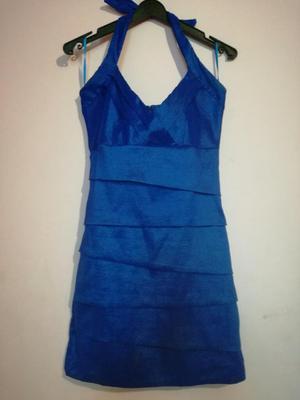 Vestido de Fiesta Azulino Talla Small