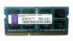 Memoria Ram Laptop Kingston 4gb Ddr3 Sodimm mhz s