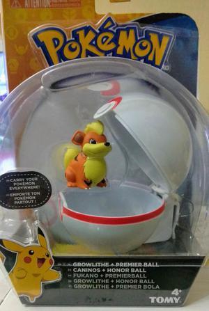 Pokémon Clip And Carry Poké Ball Growlithe y Premier Ball