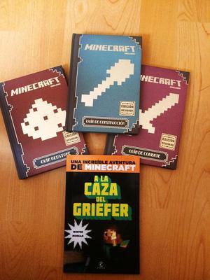 OFERTA: Pack de 3 libros de maincraft mas uno de regalo