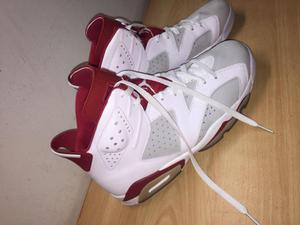 Zapatillas Nike Jordan red and white talla 44