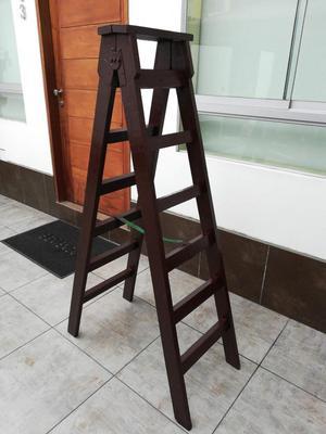Escalera tijera doble de madera 12 pasos posot class for Escalera de madera 5 pasos