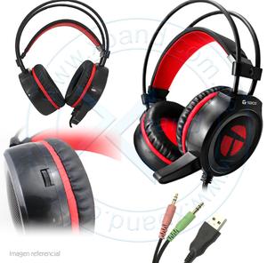 Auriculares Gaming Teros TE502, Estereo, micrófono, 3.5 mm,