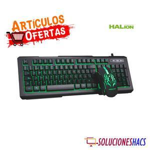 Kit Gamer Teclado y Mouse Halion Mirage