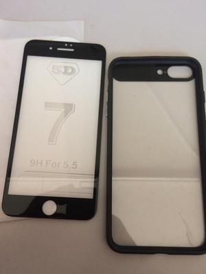 Case Y Protector de Vidrio iPhone 8 Plus