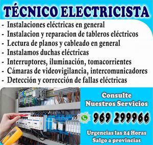 Técnico Electricista Urgencias las 24 Horas