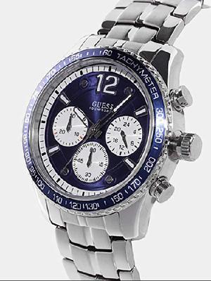 Reloj GUESS Fleet hombre WG1 acero, dial azul, NUEVO, no