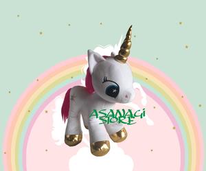 Peluche Unicornio Blanco Importado Colores Variados