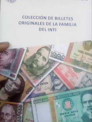 FOLLETO DE COLECCIÓN CON BILLETES EN INTIS