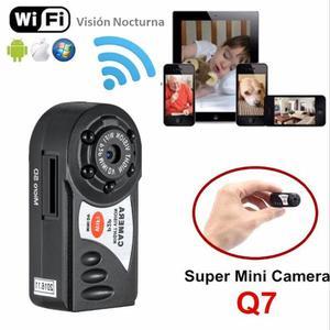 Mini Camara Espia Q7 Wifi Vision Nocturna,aplicacion Celular