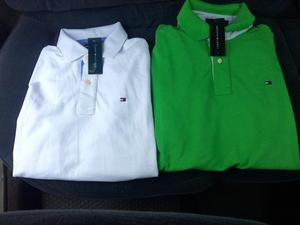Camisero Tommy Hilfiger Manga Larga Verde Blanco Colores