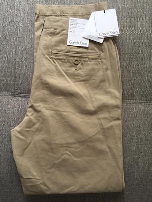 Sale Pantalon Sport Calvin Klein Classic Khaki B670 Talla 30