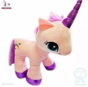 Peluche Unicornio Rosa Kawaii 45 Cm. Incluye Bolsa Regalo