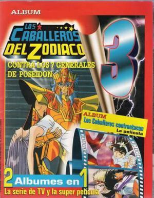 ALBUMES CABALLEROS ZODIACO 2, 3 y pelicula DIGITAL