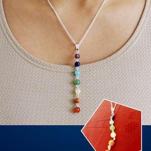 Oferta Collar Chakra / Plata 950 / Piedras Naturales