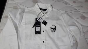 Camisa hombre Ellus marca brasileña dos tipos de tejiddo y