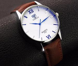 Reloj YAZOLE Hombre Clásico Cuero