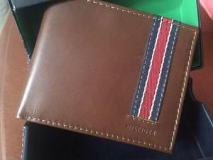 Tommy Hilfiger billetera de cuero para hombre