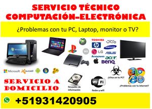 servicio técnico de lacptop, pc, tv