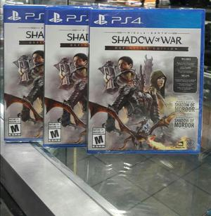 Shadow Of War Definitive Edition Ps4 Nuevo Sellado Stock
