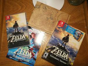 Zelda Breath of the Wild Nintendo Switch Explorers Edition