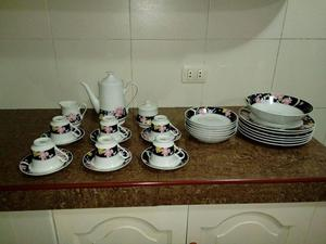 Remato juego de vajilla de porcelana Silverie fine China