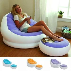 Sillon inflable puff colores