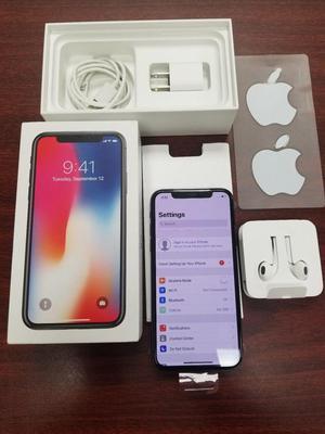 nuevo iphone x color negro con accesorios